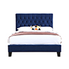 This item: Linden Twin Navy Twin Upholstered Bed