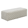This item: Vivian Taupe Upholstered Bench