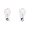 This item: 2 Pack 40W Equivalent A19 E26 2700K Dimmable LED Filament Warm White Clear Light Bulb