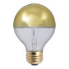 This item: Half Gold Incandescent G25 Standard Base Warm White 310 Lumens Light Bulb