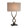 This item: Talema Distressed Aged Silver Leaf One-Light Table Lamp