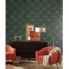 This item: Ronald Redding Tea Garden Teal and Gold French Marigold Wallpaper