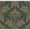 This item: Antonina Vella Deco Green Nouveau Damask Wallpaper