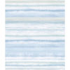 This item: Impressionist Light Blue Fleeting Horizon Stripe Wallpaper