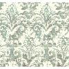This item: Impressionist Blue and Gray Batik Damask Wallpaper