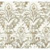 This item: Impressionist Taupe Batik Damask Wallpaper