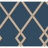 This item: Conservatory Navy and Copper Ribbon Stripe Trellis Wallpaper