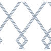 This item: Conservatory White and Blue Ribbon Stripe Trellis Wallpaper – SAMPLE SWATCH ONLY