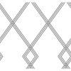 This item: Conservatory White and Black Ribbon Stripe Trellis Wallpaper