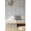 This item: Ronald Redding Handcrafted Naturals Cream and Black Tea Leaves Stripe Wallpaper