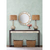 This item: Ronald Redding Handcrafted Naturals Blue Tea Leaves Stripe Wallpaper