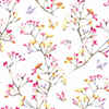 This item: A Perfect World Pink, Orange and Purple Watercolor Branch Wallpaper