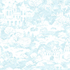 This item: A Perfect World Blue Quiet Kingdom Wallpaper - SAMPLE SWATCH ONLY
