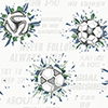 This item: A Perfect World Navy and Kelly Soccer Ball Blast Wallpaper - SAMPLE SWATCH ONLY
