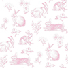 This item: A Perfect World Pink Bunny Toile Wallpaper