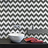 This item: A Perfect World Black Chevron Sidewall Wallpaper - SAMPLE SWATCH ONLY