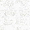 This item: A Perfect World Neutral On White Construction Blueprint Wallpaper