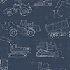 This item: A Perfect World Navy Construction Blueprint Wallpaper