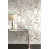 This item: Ronald Redding 24 Karat White and Gold Bird And Blossom Chinoserie Wallpaper