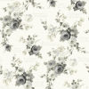 This item: Magnolia Home Gray and White Heirloom Rose Peel and Stick Wallpaper