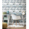 This item: Urban Blue and Green Peel and Stick Wallpaper
