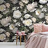 This item: Black Photographic Floral Peel and Stick Wallpaper Mural