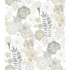This item: Perennial Blooms Beige Peel and Stick Wallpaper
