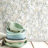 This item: Willow Branch White, Green And Tan Peel And Stick Wallpaper