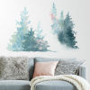 This item: Watercolor Pine Tree Blue And Pink Peel and Stick Gaint Wall Decal