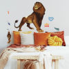 This item: The Lion King Simba Brown Peel and Stick Gaint Wall Decal