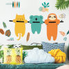 This item: Koala And Sloth Orange, Teal And Yellow Peel and Stick Gaint Wall Decal
