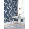 This item: Silhouettes Navy Imperial Blossoms Branch Wallpaper