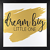 This item: Dream Big Little One, Gold Framed Canvas Float with Metallic Print