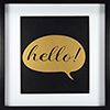 This item: Hello, Gold Framed Artwork with Mat and Metallic Screenprint