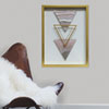 This item: 3 Triangles Blush 16 x 20 In. Shadowbox Wall Art