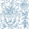 This item: Inspired by Color Blue and White Old World Toile Wallpaper