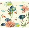 This item: Ashford House Tropics White and Green Tropical Reef Wallpaper
