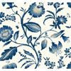 This item: Ashford House Tropics Off-White and Blue Watercolor Jacobean Wallpaper