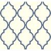 This item: Antonina Vella Blue Kashmir Luxury Trellis Wallpaper