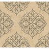 This item: Antonina Vella Beige Kashmir Rose Window Wallpaper: Sample Swatch Only