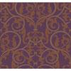 This item: Antonina Vella Purple Kashmir Royal Scroll Wallpaper: Sample Swatch Only