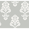 This item: Inspired by Color Silver Metallic and White Wallpaper: Sample Swatch Only