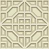 This item: Dimensional Artistry Beige Asian Lattice Wallpaper