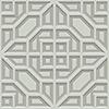 This item: Dimensional Artistry Grey Asian Lattice Wallpaper