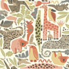 This item: Dwell Studio Baby and Kids Jungle Puzzle Brown, Orange and Green Wallpaper- Sample Swatch Only