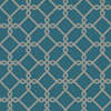 This item: Ashford Geometrics Teal and Grey Threaded Links Wallpaper: Sample Swatch Only