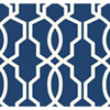 This item: Ashford Geometrics Dark Blue and White Hourglass Trellis Wallpaper: Sample Swatch Only