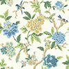 This item: Waverly Garden Party White and Blue Floral Wallpaper