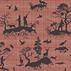 This item: Tailored Red Toile Wallpaper - SAMPLE SWATCH ONLY