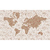 This item: Rustic Living White World Map